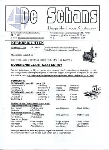 Castenrays dorpsblad De Schans 2010-02-24