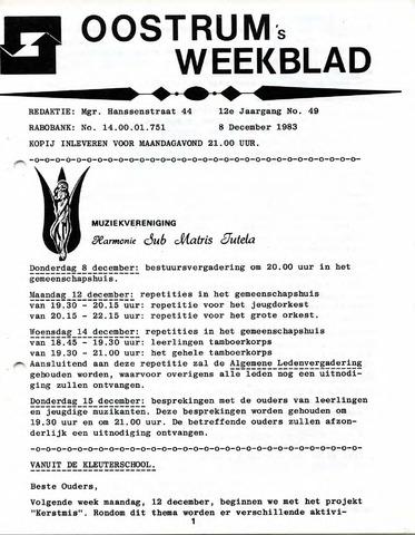 Oostrum's Weekblad 1983-12-08