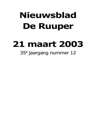 Dorpsblad Leunen-Veulen-Heide 2003-03-21