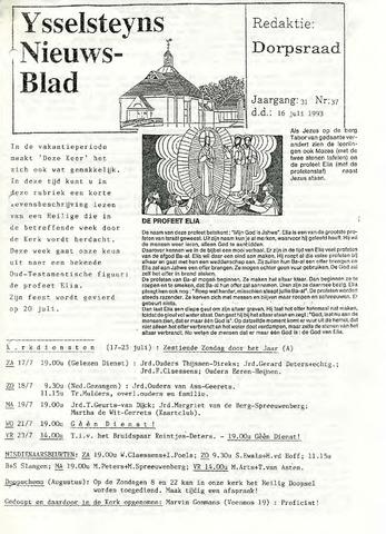 Ysselsteyns Nieuwsblad 1993-07-16