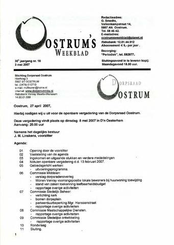 Oostrum's Weekblad 2007-05-03