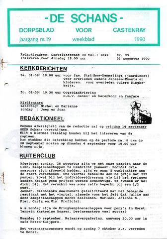 Castenrays dorpsblad De Schans 1990-08-31