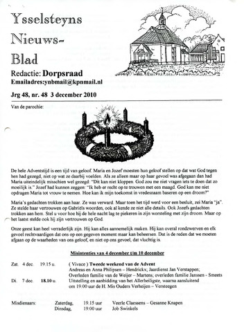 Ysselsteyns Nieuwsblad 2010-12-03