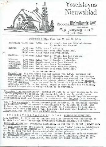 Ysselsteyns Nieuwsblad 1980-07-18
