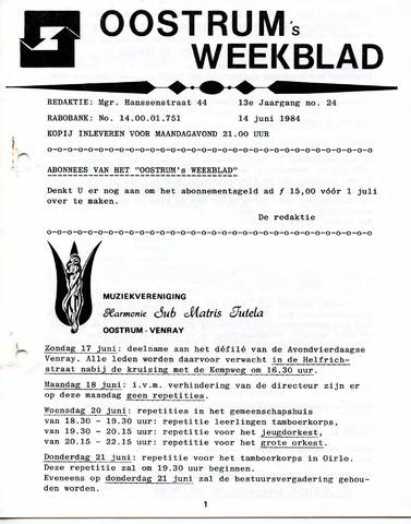 Oostrum's Weekblad 1984-06-14