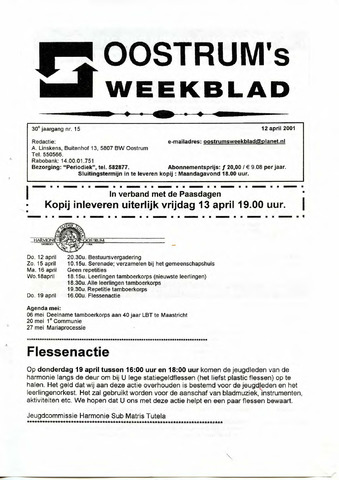 Oostrum's Weekblad 2001-04-12