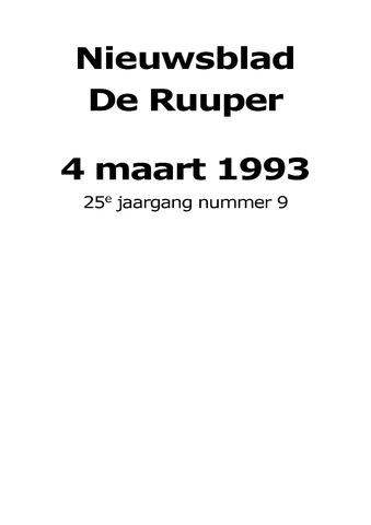 Dorpsblad Leunen-Veulen-Heide 1993-03-04