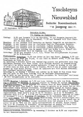 Ysselsteyns Nieuwsblad 1973-09-28