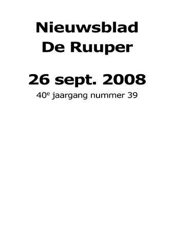 Dorpsblad Leunen-Veulen-Heide 2008-09-26