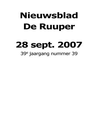 Dorpsblad Leunen-Veulen-Heide 2007-09-28