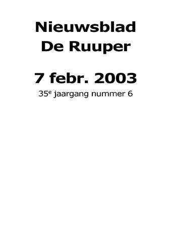 Dorpsblad Leunen-Veulen-Heide 2003-02-07