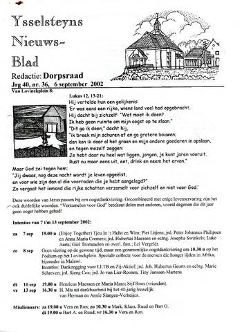 Ysselsteyns Nieuwsblad 2002-09-06