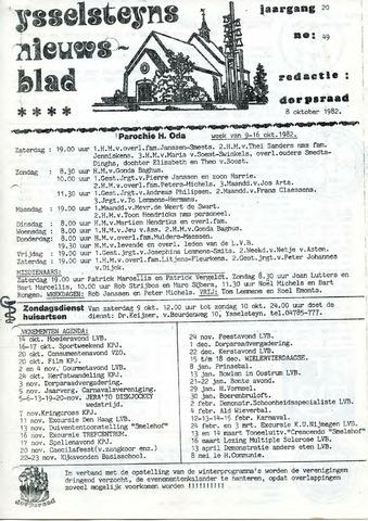 Ysselsteyns Nieuwsblad 1982-10-08