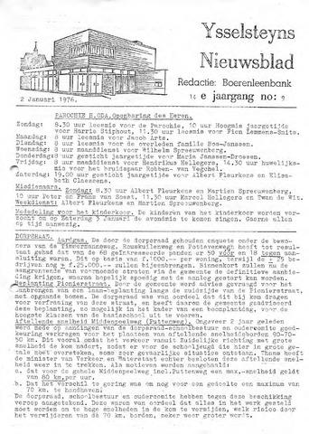 Ysselsteyns Nieuwsblad 1976-01-02