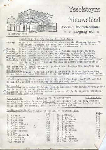 Ysselsteyns Nieuwsblad 1975-10-24