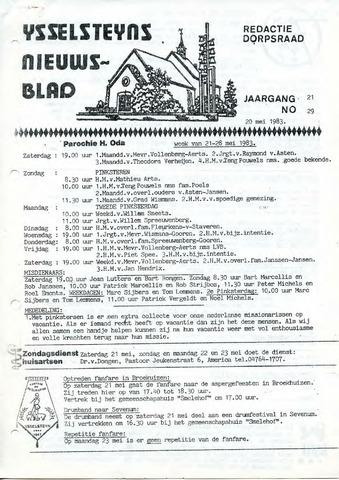 Ysselsteyns Nieuwsblad 1983-05-20