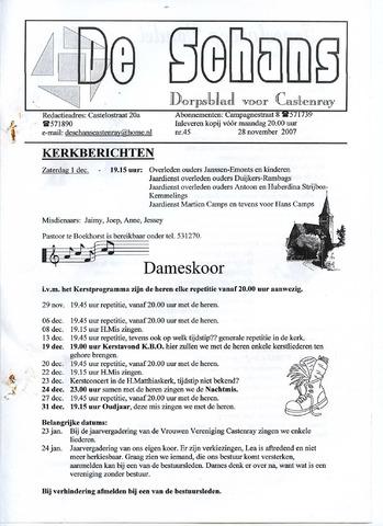 Castenrays dorpsblad De Schans 2007-11-28