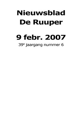 Dorpsblad Leunen-Veulen-Heide 2007-02-09