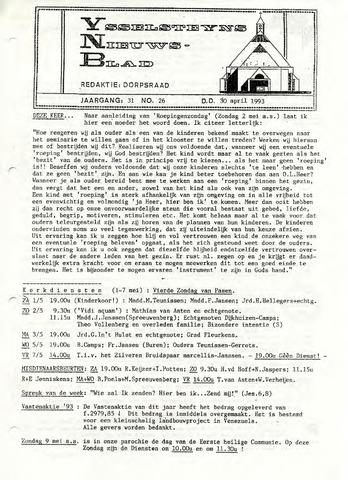 Ysselsteyns Nieuwsblad 1993-04-30