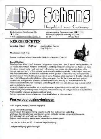 Castenrays dorpsblad De Schans 2010-06-09