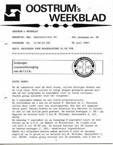 Oostrum's Weekblad 1987-07-30