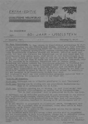 Ysselsteyns Nieuwsblad 1971-08-27