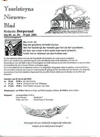 Ysselsteyns Nieuwsblad 2002-07-19