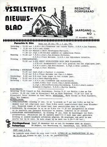 Ysselsteyns Nieuwsblad 1985-12-27