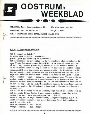 Oostrum's Weekblad 1984-07-12