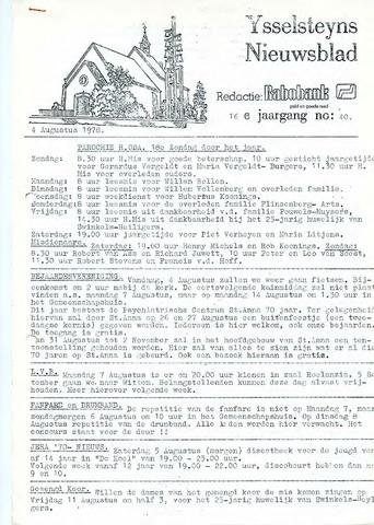 Ysselsteyns Nieuwsblad 1978-08-04