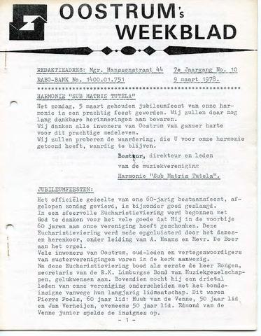 Oostrum's Weekblad 1978-03-09