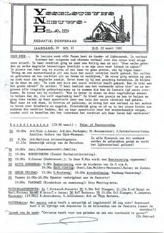 Ysselsteyns Nieuwsblad 1991-03-22