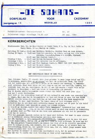 Castenrays dorpsblad De Schans 1984-09-28