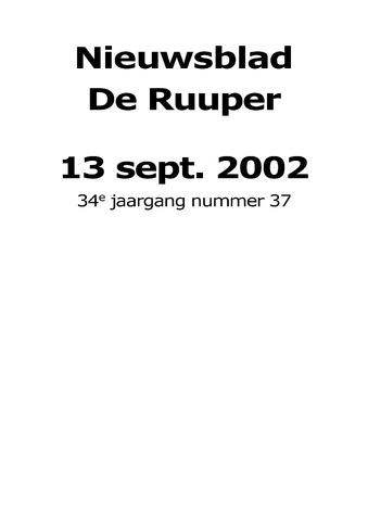 Dorpsblad Leunen-Veulen-Heide 2002-09-13