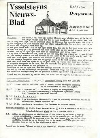 Ysselsteyns Nieuwsblad 1993-07-02