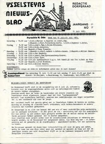 Ysselsteyns Nieuwsblad 1983-07-15