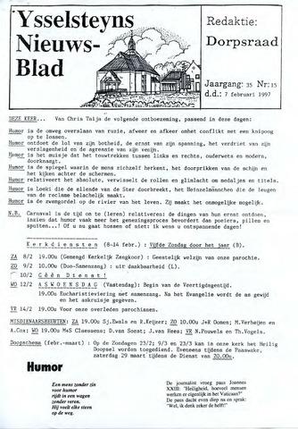 Ysselsteyns Nieuwsblad 1997-02-07
