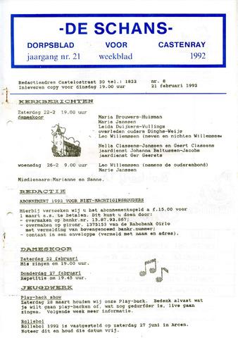 Castenrays dorpsblad De Schans 1992-02-21