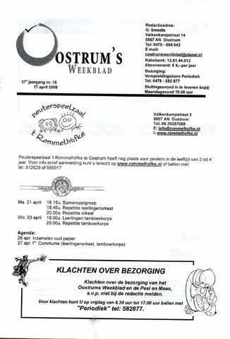 Oostrum's Weekblad 2008-04-17