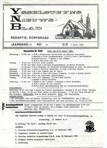 Ysselsteyns Nieuwsblad 1986-03-07