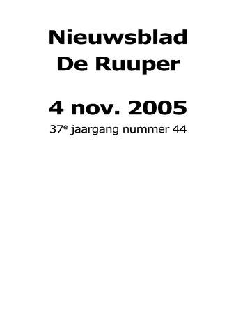 Dorpsblad Leunen-Veulen-Heide 2005-11-04