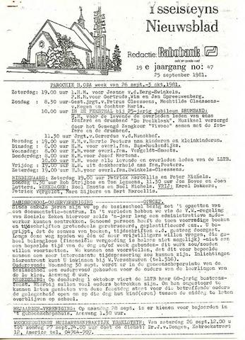 Ysselsteyns Nieuwsblad 1981-09-25