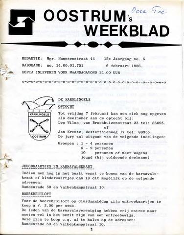 Oostrum's Weekblad 1986-02-06