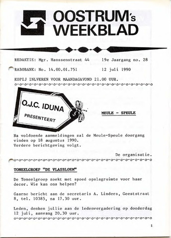 Oostrum's Weekblad 1990-07-12