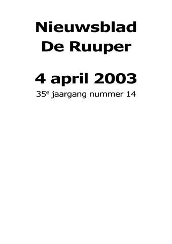 Dorpsblad Leunen-Veulen-Heide 2003-04-04