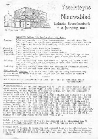 Ysselsteyns Nieuwsblad 1975-11-14