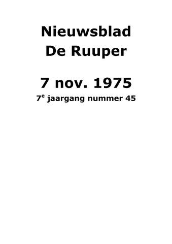 Dorpsblad Leunen-Veulen-Heide 1975-11-07