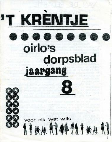 Oirlo's dorpsblad 't Krèntje 1976-11-18