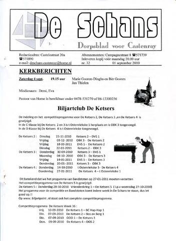 Castenrays dorpsblad De Schans 2010-09-01