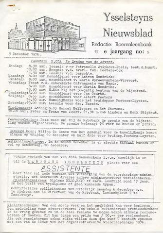 Ysselsteyns Nieuwsblad 1976-12-03